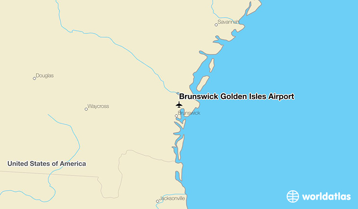 Brunswick Golden Isles Airport location on a map