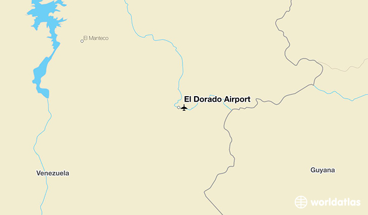 El Dorado Airport location on a map