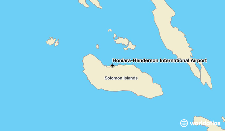 Honiara-Henderson International Airport location on a map