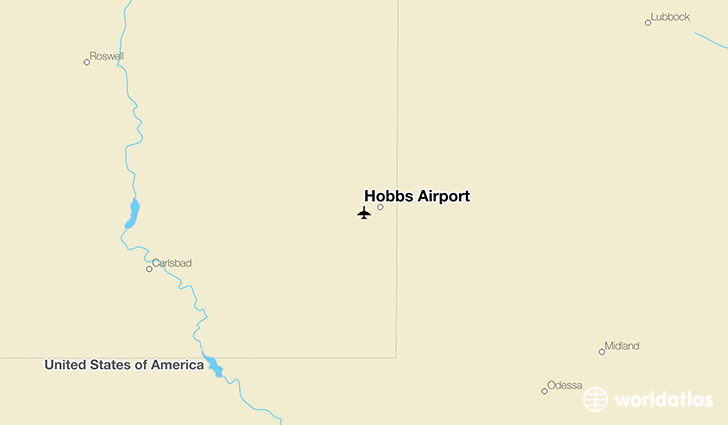 Hobbs Airport location on a map