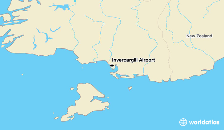 Invercargill Airport location on a map