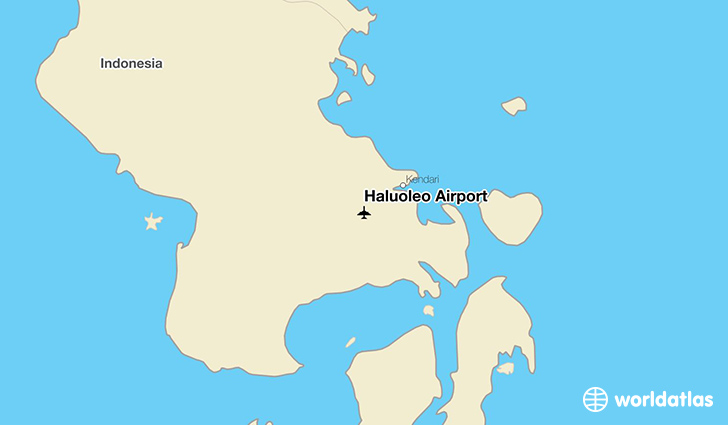 Haluoleo Airport location on a map