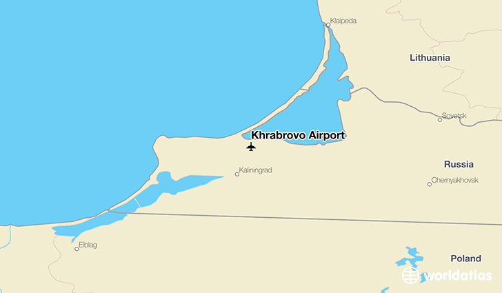 Khrabrovo Airport location on a map