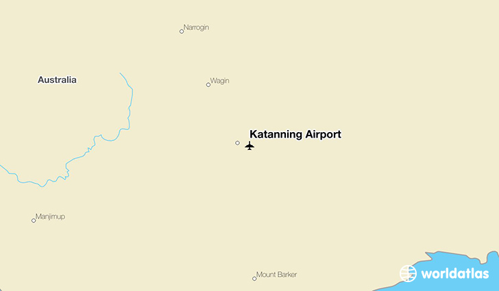 Katanning Airport location on a map