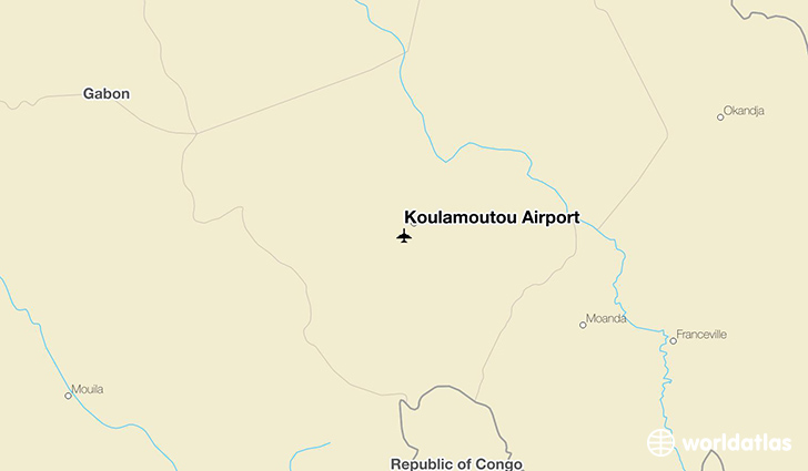 Koulamoutou Airport location on a map