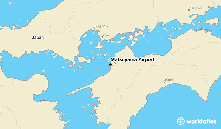 Matsuyama Airport location on a map