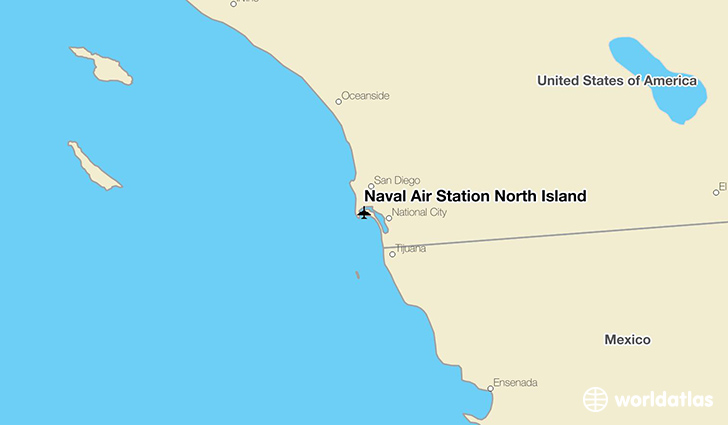 Naval Air Station North Island location on a map