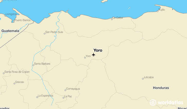 Yoro location on a map
