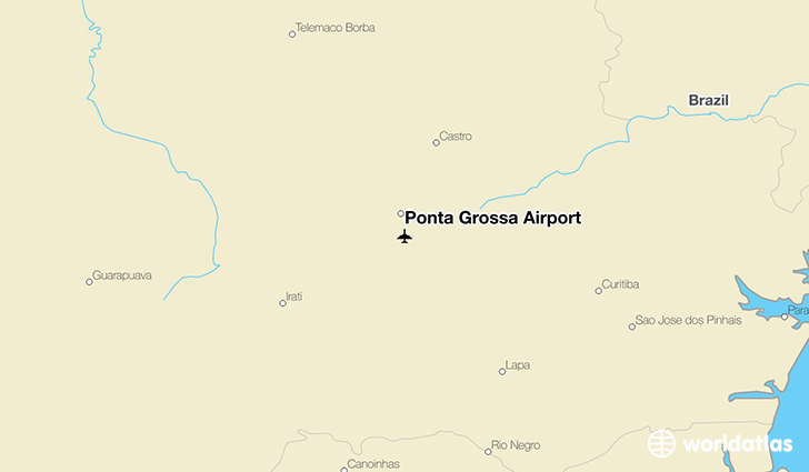 Ponta Grossa Airport location on a map