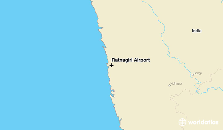 Ratnagiri Airport location on a map