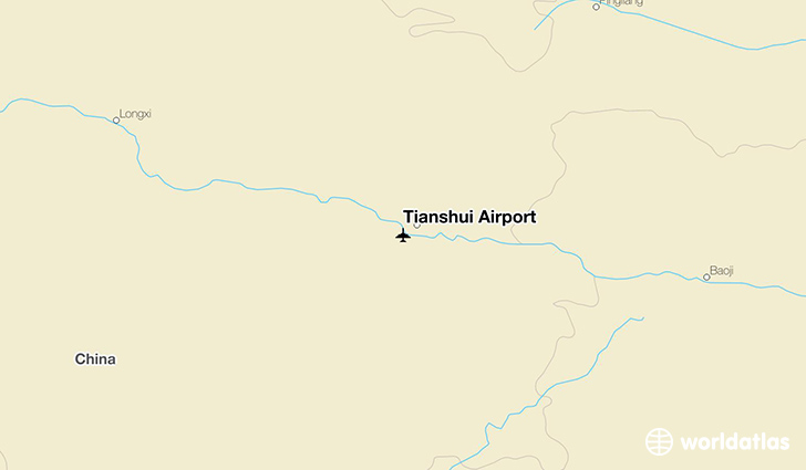 Tianshui Airport location on a map