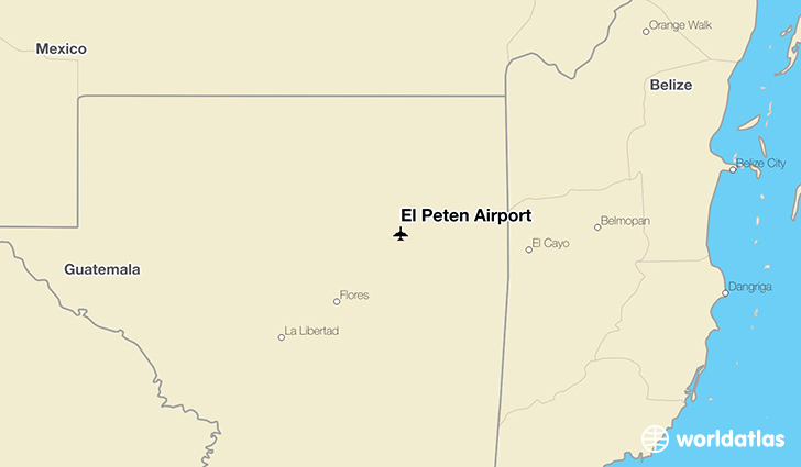 El Peten Airport location on a map