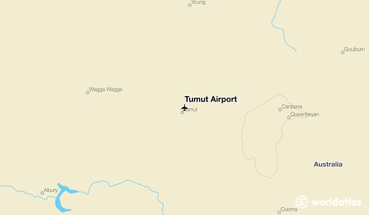 Tumut Airport location on a map