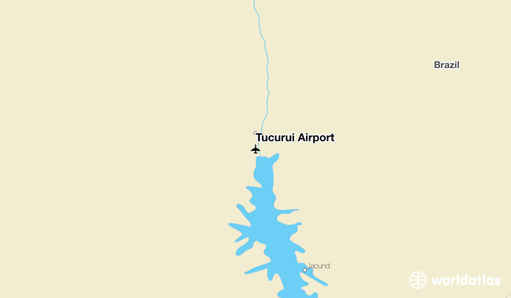 Tucuruí Airport location on a map