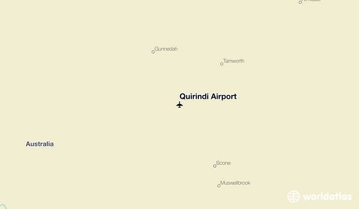 Quirindi Airport location on a map