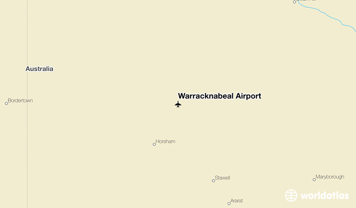 Warracknabeal Airport location on a map