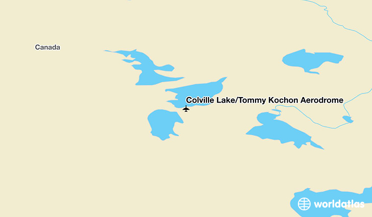 Colville Lake/Tommy Kochon Aerodrome location on a map