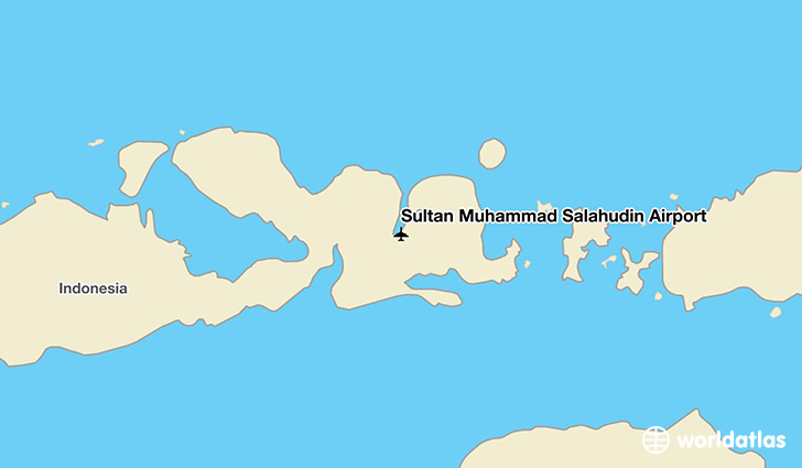 Sultan Muhammad Salahudin Airport location on a map