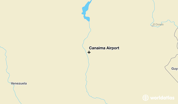 Canaima Airport location on a map