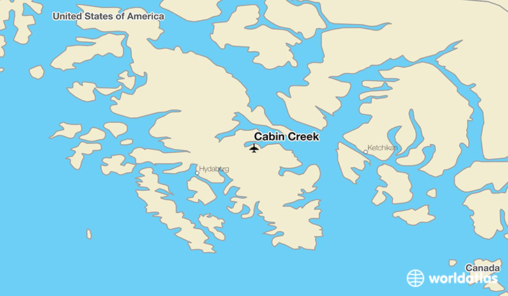 Cabin Creek location on a map