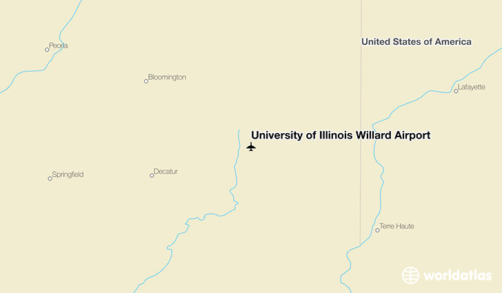 University of Illinois Willard Airport location on a map