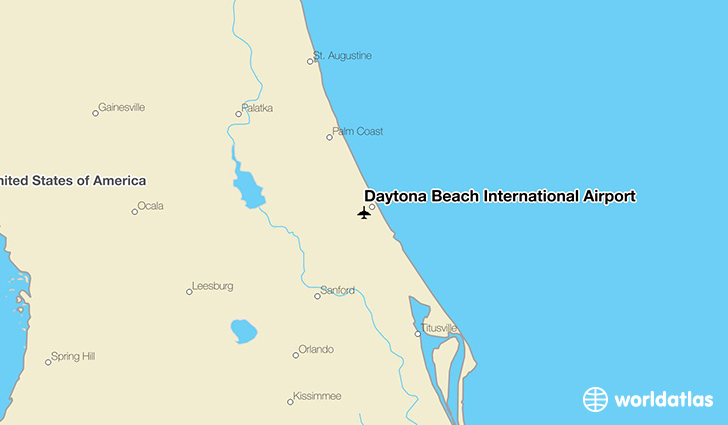 Daytona Beach International Airport location on a map