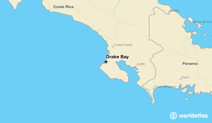 Drake Bay location on a map
