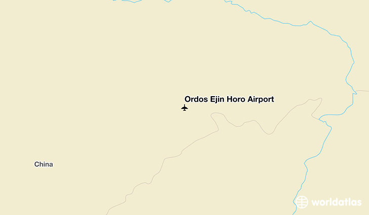 Ordos Ejin Horo Airport location on a map