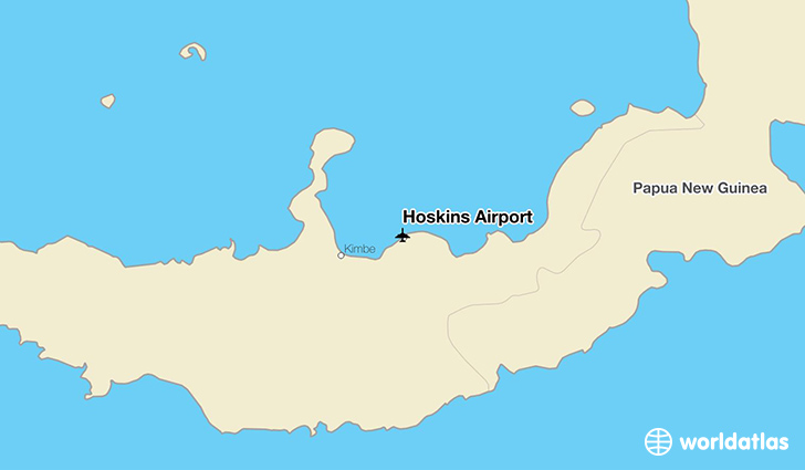 Hoskins Airport location on a map
