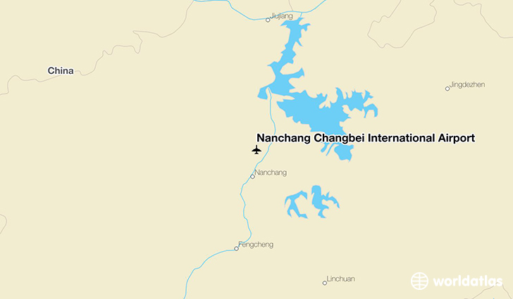 Nanchang Changbei International Airport location on a map