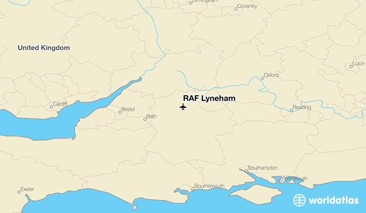 RAF Lyneham location on a map