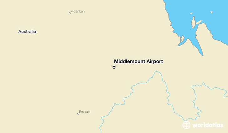 Middlemount Airport location on a map