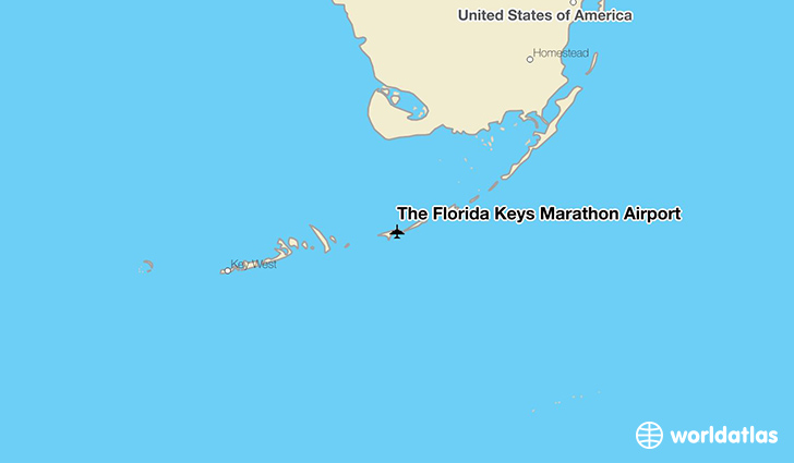 The Florida Keys Marathon Airport location on a map