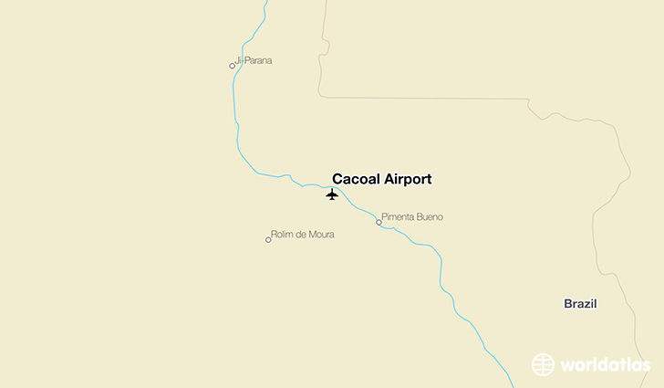 Cacoal Airport location on a map