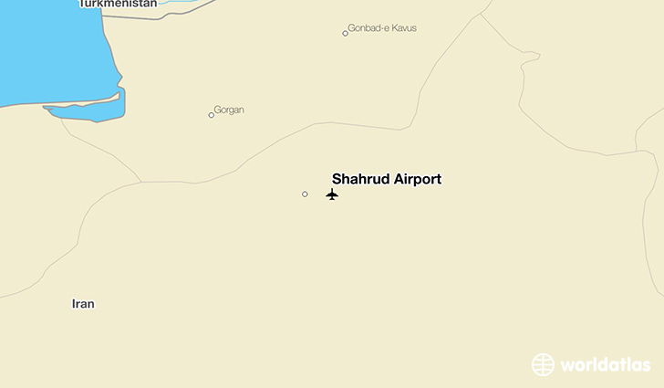 Shahrud Airport location on a map