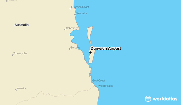 Dunwich Airport location on a map