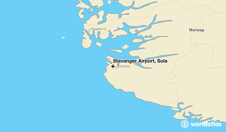 Stavanger Airport, Sola location on a map