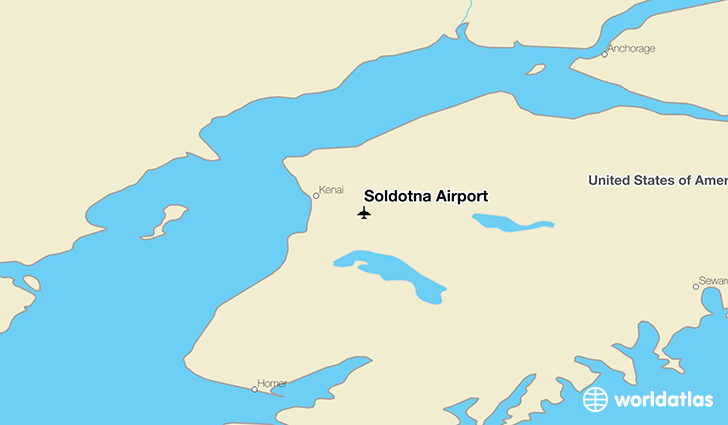Soldotna Airport location on a map