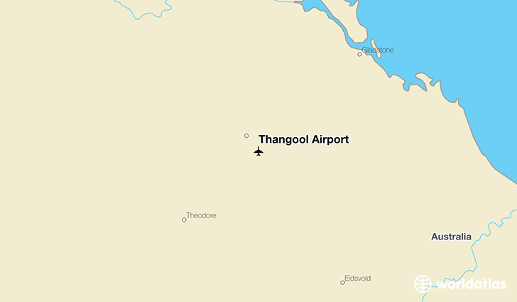 Thangool Airport location on a map