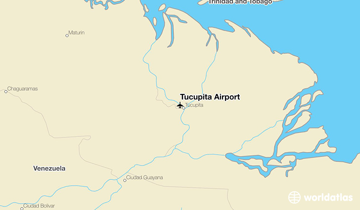 Tucupita Airport location on a map