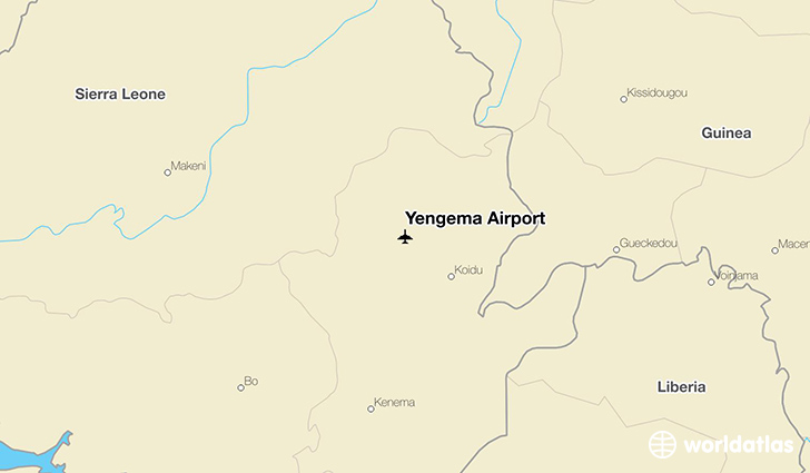 Yengema Airport location on a map