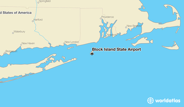Block Island State Airport location on a map