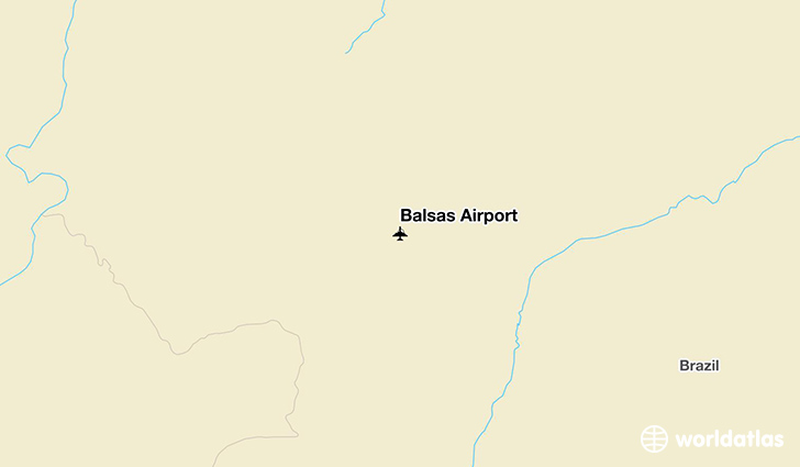 Balsas Airport location on a map