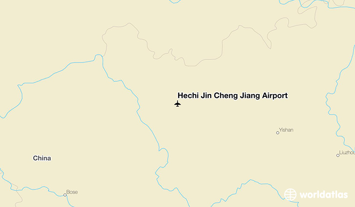 Hechi Jin Cheng Jiang Airport location on a map