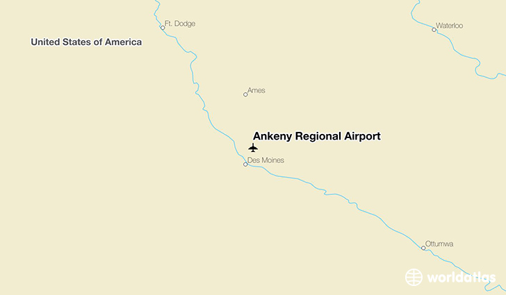 Ankeny Regional Airport location on a map