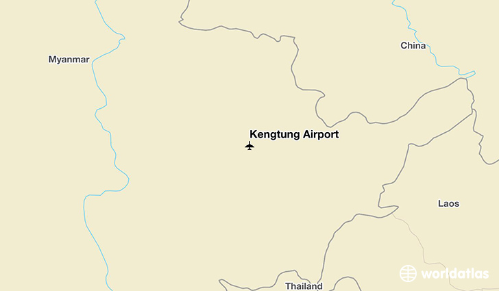 Kengtung Airport location on a map