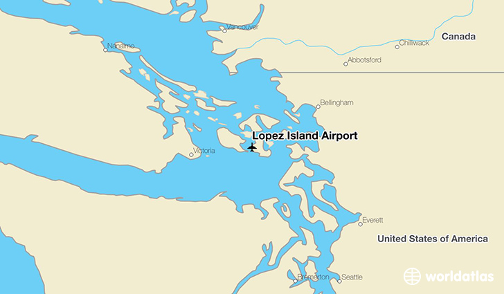Lopez Island Airport location on a map