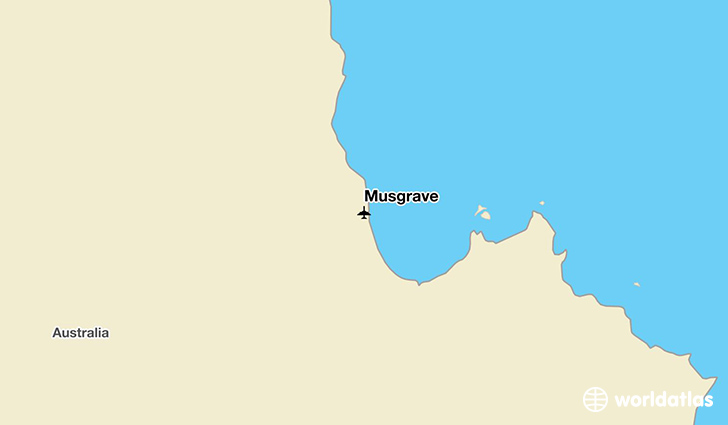 Musgrave location on a map