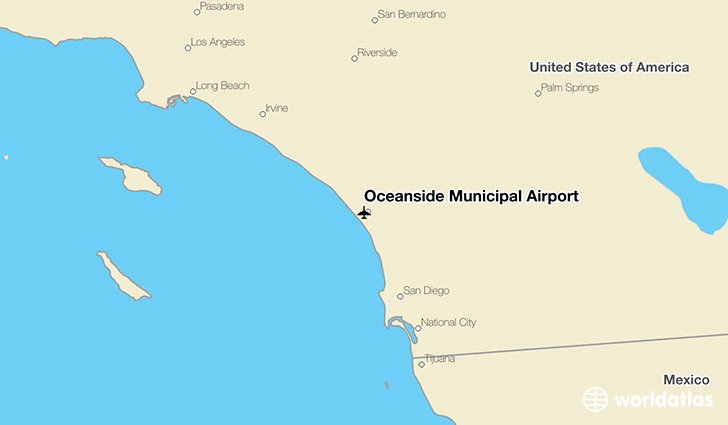 Oceanside Municipal Airport location on a map