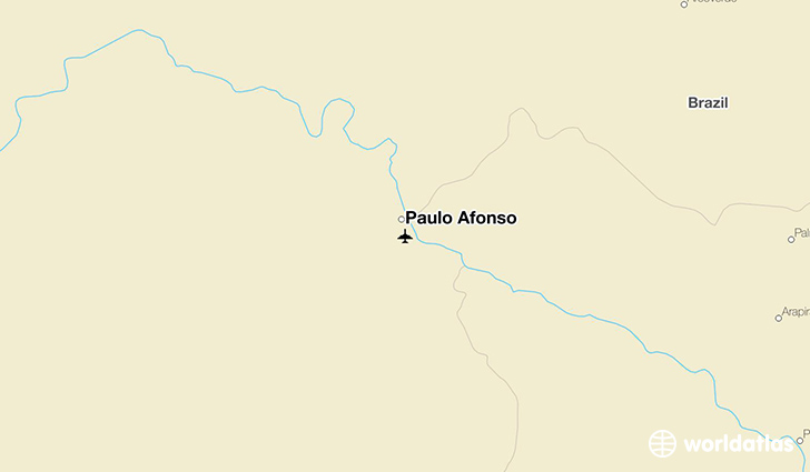 Paulo Afonso location on a map